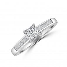 Platinum Princess cut Diamond Solitaire Ring