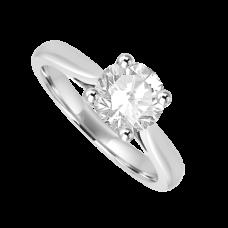 Platinum 1.02ct Diamond Solitaire Ring