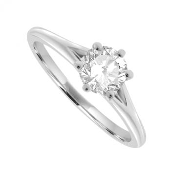 Platinum Solitaire .50ct Diamond Ring