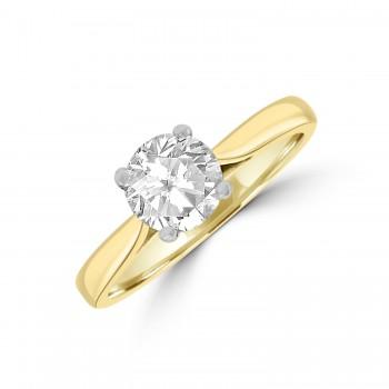 18ct Gold & Platinum 1.10ct Diamond Solitaire Ring