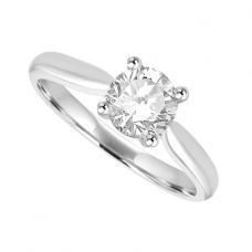 Platinum .70ct Diamond Solitaire Ring Engagement