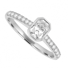 Platinum Phoenix Cut Diamond Solitaire Ring