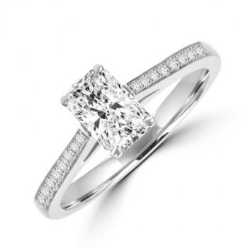 Platinum Phoenix cut Solitaire DVVS2 Diamond Ring