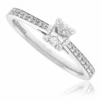 Platinum Phoenix Certified Diamond Solitaire Ring Engagement