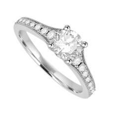 Platinum Solitaire .52ct Diamond Solitaire Ring