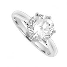 Platinum Solitaire 2.02ct Diamond Ring