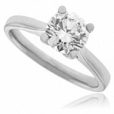 Platinum Certified Diamond Solitaire Ring 1.01ct DVS2