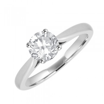 Platinum Solitaire FSi1 Diamond Solitaire Ring