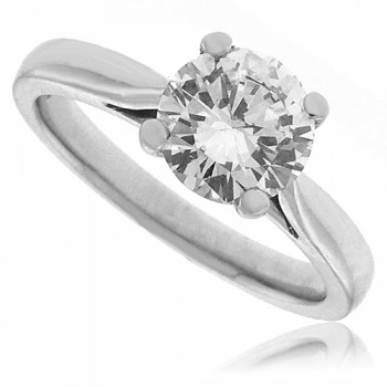 Platinum Solitaire Certified Diamond Ring