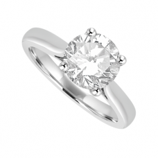 Platinum Solitaire 1.28ct Diamond Ring Engagement