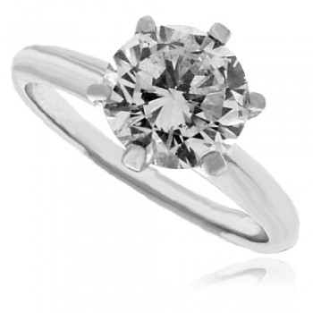 Platinum Solitaire HSi1 Diamond Ring