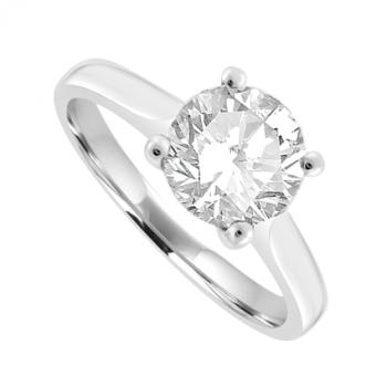 Platinum Solitaire 1.26ct Diamond Ring