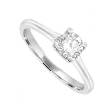 Platinum Solitaire .40ct Diamond Ring