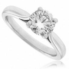 Platinum Solitaire .90ct Diamond Ring