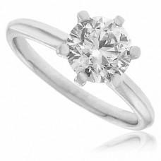Platinum Solitaire Diamond Ring D1.04ct GSI2  6 Claw