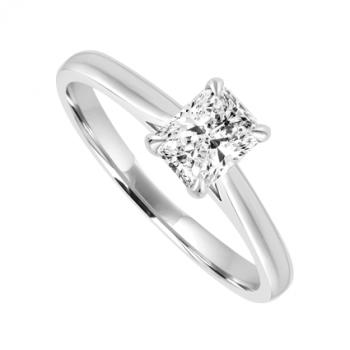 Platinum Solitaire Phoenix Diamond Ring