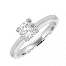 Platinum 'Tulip' Solitaire GSi1 Diamond Ring