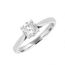 Platinum .64ct Solitaire GVS2 Diamond Ring