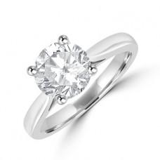 Platinum Solitaire 1.52ct Diamond Ring