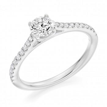 Platinum Solitaire DVVS2 Diamond Ring