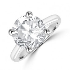 Platinum Solitaire 4.02ct Diamond Ring