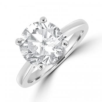 Platinum Solitaire 3.45ct Diamond Ring
