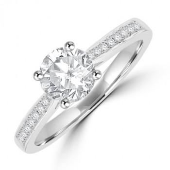 Platinum .85FSi1 Diamond Solitaire Ring