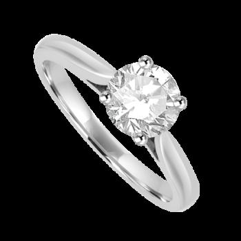 Platinum Solitaire .80ct IVVS2 Diamond Ring