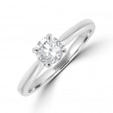 Platinum Solitaire FVS1 Diamond Ring