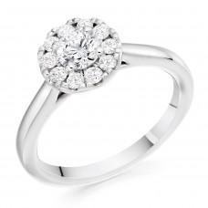 Platinum 10x1 Diamond Cluster Ring