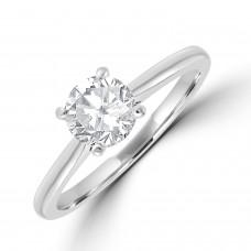 Platinum Solitaire FVS2 Diamond Ring
