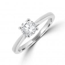 Platinum Solitaire EVS2 Diamond Ring