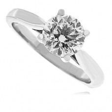 Platinum Solitaire GSi2 Diamond Ring