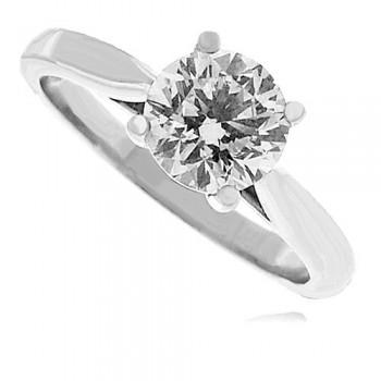 Platinum Solitaire GSi2 Diamond Ring