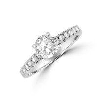Platinum Solitaire 1.00ct GSi2 Diamond Ring