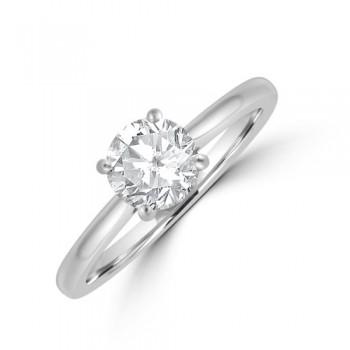Platinum 4-claw Solitaire DSi1 Diamond Ring