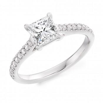 Platinum Princess cut Diamond Ring