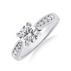 Platinum DSi2 Diamond Solitaire Ring