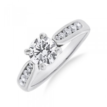 Platinum DSi2 Diamond Solitaire Ring