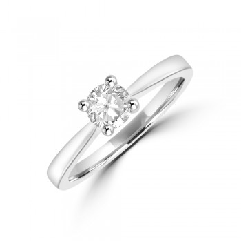 Platinum Solitaire ESi1 Diamond Ring