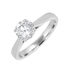 Platinum Solitaire FSi2 Diamond Ring