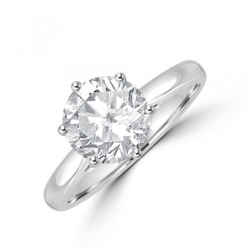 Platinum Solitaire JVS2 Diamond Ring