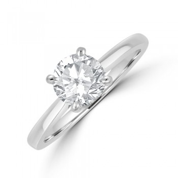 Platinum .90ct Solitaire ESi1 Diamond Ring