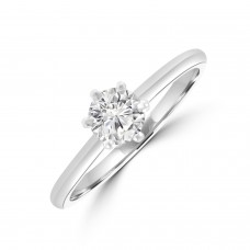 Platinum Diamond 6-Claw Diamond Solitare .45ct DSI2