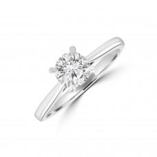 Platinum .70ct Solitaire DSi1 Diamond Knife Edge shank Ring