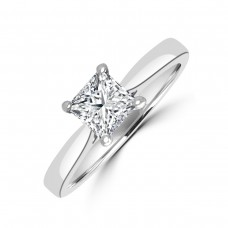Platinum .70ct Princess .70ct Diamond Solitaire Ring