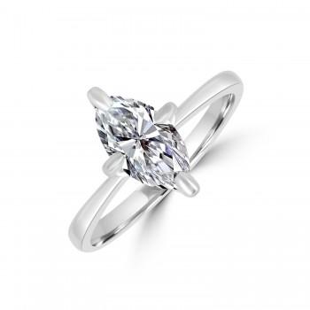 Platinum Marquise DSi2 Solitaire 1.04ct Diamond Ring