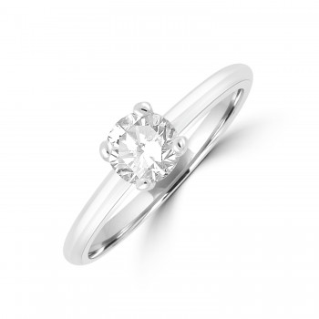 Platinum .56ct Solitaire ESi2 Diamond Ring