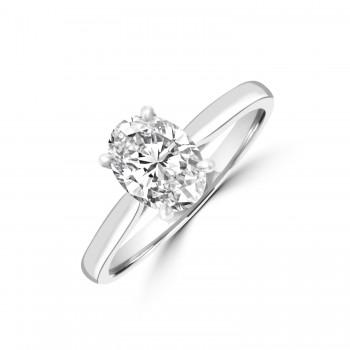 Platinum Oval GSi1 Diamond Solitaire Ring