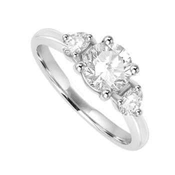 Platinum 3 stone Diamond Ring